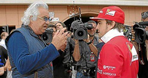 Flavio Briatore, junto a Alonso en Mónaco.