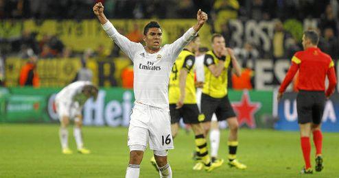 Casemiro, en el partido de Champions ante el Dortmund.