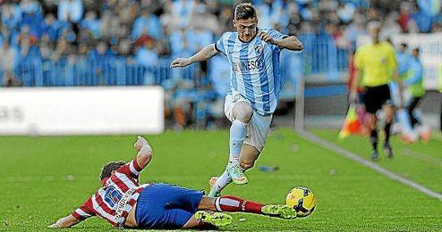 Antunes, en un partido con el Málaga.