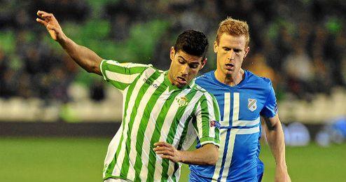 Juanfran, en el choque ante el Rijeka en Europa League.