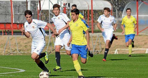 Imagen de un partido del Sevilla juvenil de esta temporada.