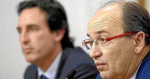 José Castro, durante la rueda de prensa de renovación de Emery.