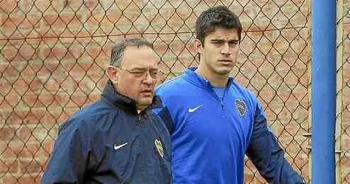 Perotti, durante su estancia en Boca.
