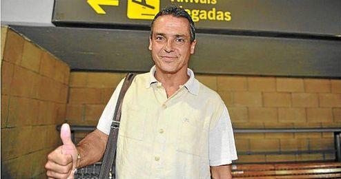 Alexis, a su llegada al aeropuerto de San Pablo.