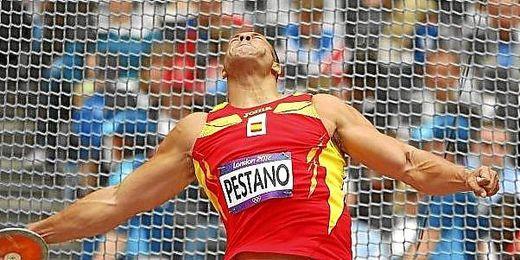 Mario Pestano en una competición.