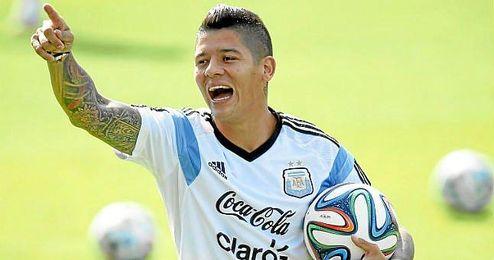 El internacional argentino Marcos Rojo es una de las alternativas a Moreno que maneja el Liverpool.