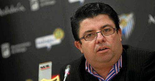 Antonio Fernández, durante su etapa en Málaga.