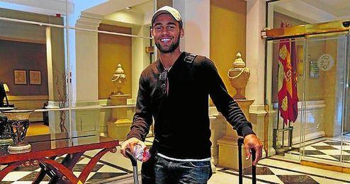 Rossi, a su llegada a España, un país en el que le gustaría repetir experiencia la próxima campaña.