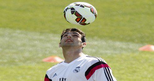 José Rodríguez en un entrenamiento.