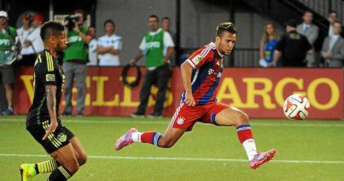 Juan Bernat durante un partido con su nuevo equipo