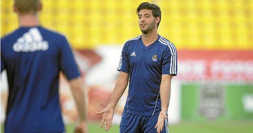 Carlos Vela durante un entrenamiento