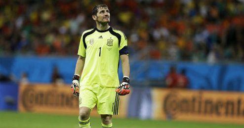 Casillas en el Mundial de Brasil 2014.