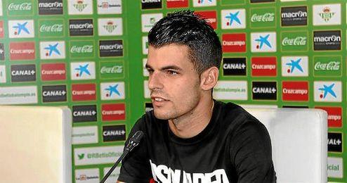 Álex Martínez en rueda de prensa.
