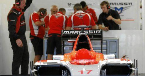 En el garaje de Jules Bianchi todo sigue igual