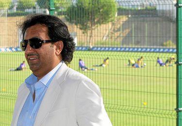 Abdullah Bin Nasser Al-Thani en la ciudad deportiva malaguista.