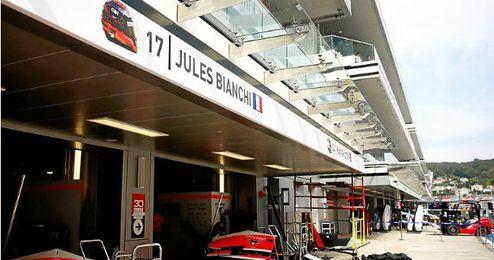 El garaje de Jules Bianchi