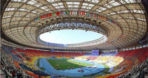 El estadio de Luzhnikí acogerá la final del Mundial de 2018.