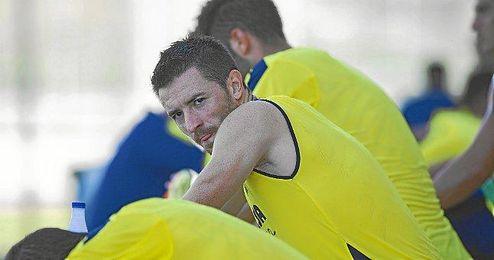 Rukavina en un entrenamiento con el Villarreal.