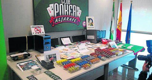 El pasado mes de marzo, la Policía Nacional desmanteló un casino ilegal en Simón Verde, Mairena del Aljarafe.