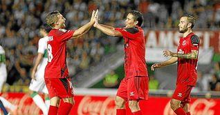 El Sevilla, a una victoria del mejor inicio liguero de su historia