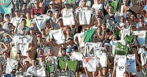 Imagen de la hinchada del Palmeiras.