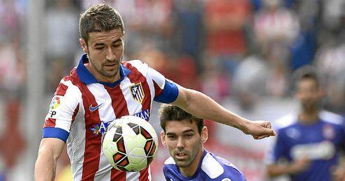 Gabi en el último partido del Atlético.