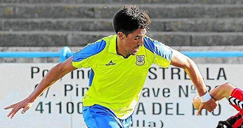 Juan Antonio en un lance del Coria-Cabecense.
