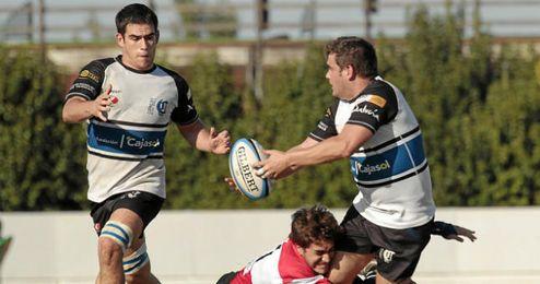 Imagen del partido entre Ciencias y Cáceres Rugby.