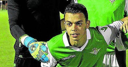 Jesús Braganza, jugador del filial bético.