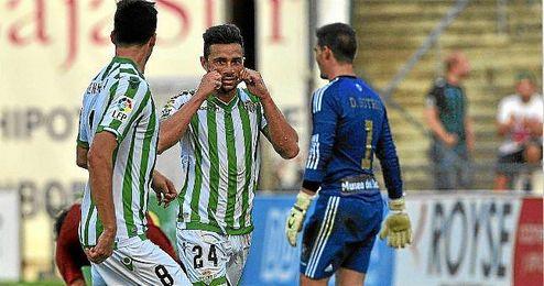 Castro celebra su gol.