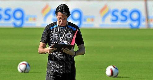 Emery durante un entrenamiento.