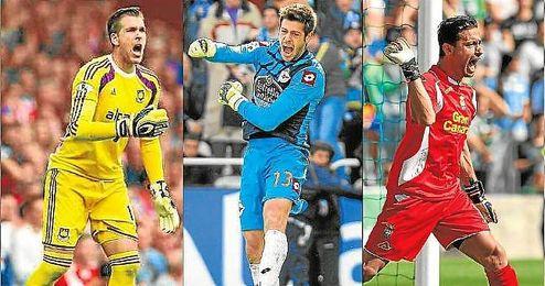 Adrián (West Ham), Fabricio (Deportivo) y Casto (Las Palmas), titulares en sus respectivos equipos.