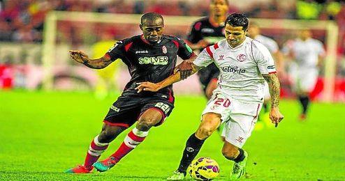 Vitolo, en el partido ante el Granada.