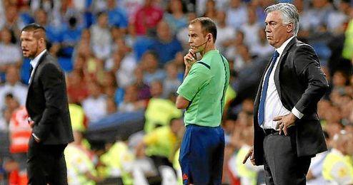Ancelotti y Simeone durante un enfrentamiento de la pasada temporada