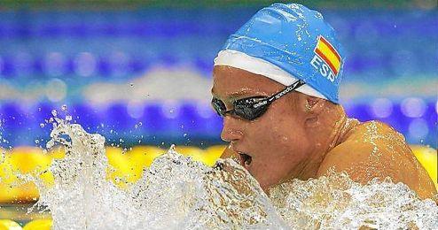 Mireia Belmonte, durante los campeonatos del mundo de piscina corta en Doha.