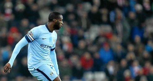 Yaya Touré, autor del gol frente al Newcastle.