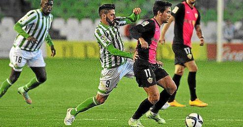 Chuli, durante el partido de Copa ante el Almería.