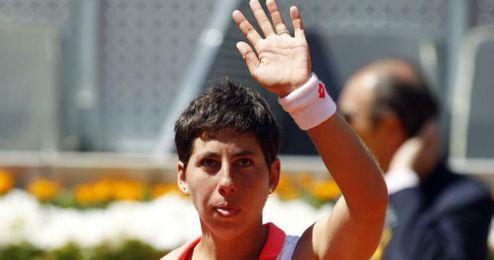 Suárez, una de las galardonadas en el Mutua Madrid Open.