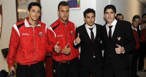 De izquierda a derecha; Redondo, Cala, Navas y José Carlos.