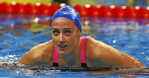 Mireia Belmonte, durante los últimos campeonatos en Doha.