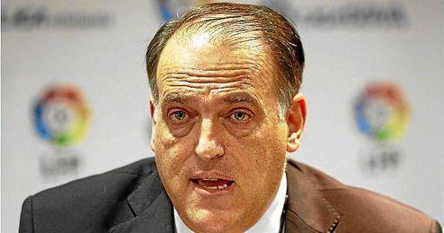 Rueda de prensa de Javier Tebas, presidente de la LFP.