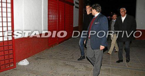 Sergio Rico, esta tarde, a su llegada al Sánchez Pizjuán.