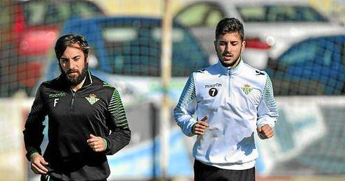 Vadillo hace carrera continua durante un entrenamiento.