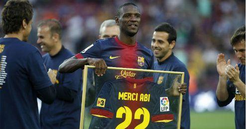 Abidal, el día de su despedida del Barcelona