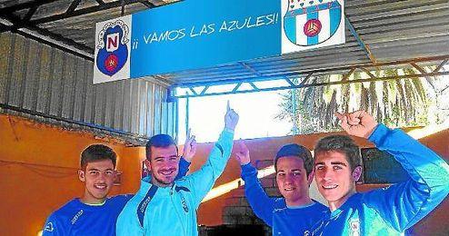 José David Cotán, Adrián Fernández, José Manuel Segovia y Carlos Galiano posaron para ESTADIO en el Antonio Puerta.