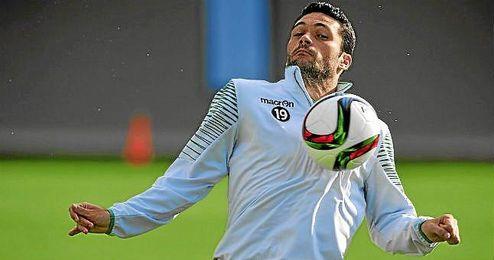 Jorge Molina, durante un entrenamiento.