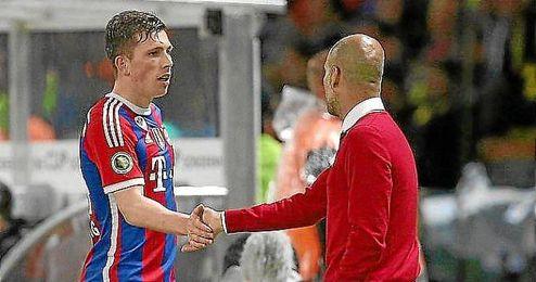 Guardiola quiere seguir contando con Højbjerg, pero quiere jugar más.