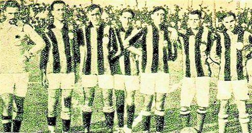 Primer conjunto del Real Betis Balompié, poco después de la fusión.