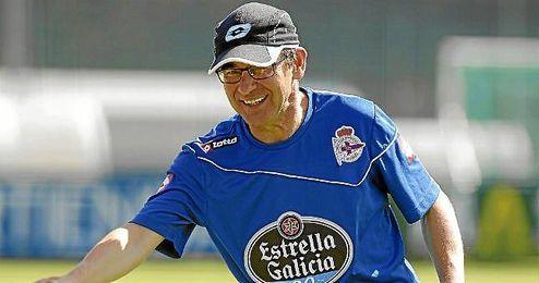 Fernando Vázquez, durante su etapa en el Deportivo.