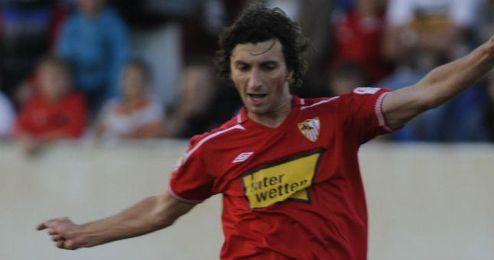 Stevanovic durante su breve etapa en el Sevilla.